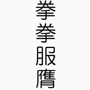 拳拳服膺-四字熟語-壁紙/画像